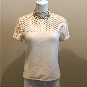 St John Marie Gray Evening Sequin Knit Top